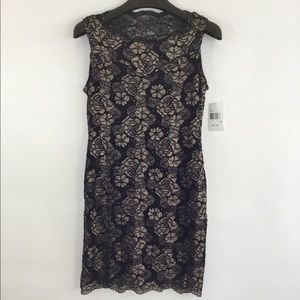 NWT CONNECTED APPAREL Evening Dress w/ Gold Roses
